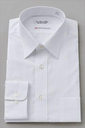 ホワイト 白無地シャツ 白シャツ 綿100% 100番手 レギュラーカラー メンズ ドレスシャツ 長袖ワイシャツ 長袖Yシャツ レギュラーフィット 小さいサイズ 大きいサイズ LL 3L 紳士用 国産日本製 おしゃれ 専門店 オフィス 綿シャツ OZIE ビジネスシャツ 男性用 ブロード