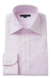ドレスシャツ 長袖ワイシャツ タイトフィット スリム ワイドカラー メンズ おしゃれ オシャレ Yシャツ ピンク | シャツ ビジネス トールサイズ 大きいサイズ カッターシャツ 無地 形態安定 プレミアムコットン ワイシャツ 高級 長袖シャツ 綿100% コットンシャツ