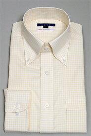 ドレスシャツ  シャツ メンズ ビジネス 高級 ボタンダウンシャツ トールサイズ おしゃれ イエロー Yシャツ オックスフォード タイトフィット 長袖ワイシャツ 黄色 100番手 ボタンダウンカラー カッターシャツ ビジネスシャツ ボタンダウン スリム 長袖シャツ