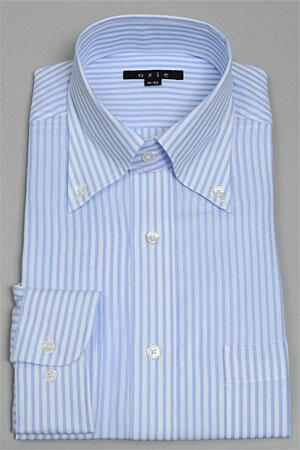 ドレスシャツ 長袖   ワイシャツ ブルー 青 シャツ メンズ ビジネス おしゃれ スリム Yシャツ カッターシャツ ボタンダウンシャツ カフスシャツ 長袖シャツ ビジネスシャツ 細身 オフィス スリムフィット カラーシャツ サックス ボタンダウン タイト お洒落 オシャレ 水色