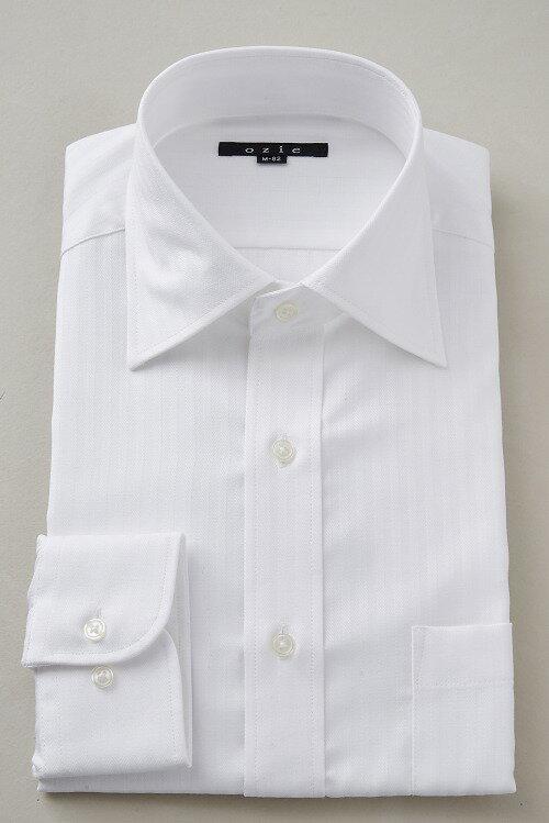 ドレスシャツ 長袖ワイシャツ ワイシャツ タイトフィット スリムタイプ スリム細身 プレミアムコットン 形態安定 ワイドカラー メンズ 男性用 おしゃれ Yシャツ オフィス ビジネス ワイシャツ ホワイト 白|トール トールサイズ カッターシャツ ビジネスシャツ 綿100%