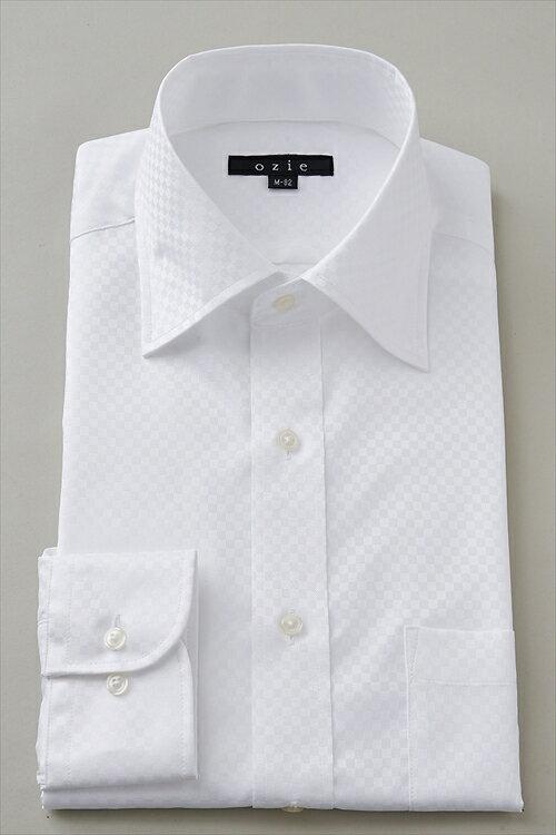 ドレスシャツ 長袖ワイシャツ ワイシャツ タイトフィット スリムタイプ スリム細身 ワイドカラー メンズ おしゃれ オシャレ Yシャツ ホワイト 白シャツ | シャツ ビジネス トールサイズ スリム クールビズ カッターシャツ クールマックス トール 白ワイシャツ coolmax 夏