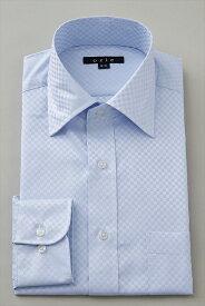 ドレスシャツ 長袖ワイシャツ ワイシャツ タイトフィット スリムタイプ スリム細身 ワイドカラー メンズ おしゃれ Yシャツ ブルー 青 サックス ギフト シャツ ビジネス トールサイズ スリム クールビズ カッターシャツ クールマックス coolmax 夏 高級 長袖 ビジネスシャツ
