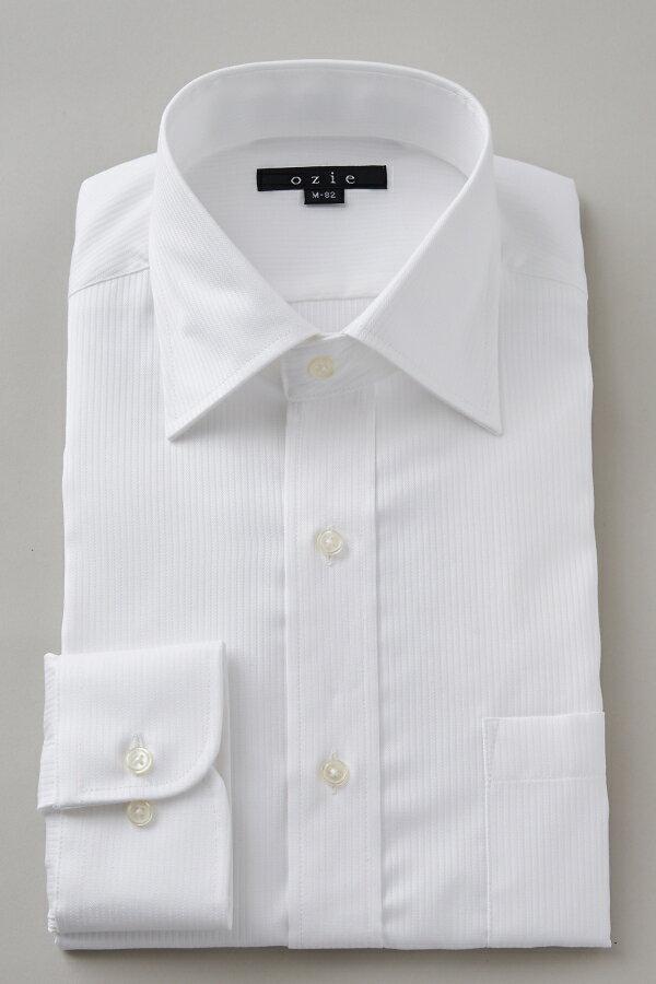 ドレスシャツ 長袖ワイシャツ タイトフィット スリム ワイドカラー メンズ おしゃれ オシャレ Yシャツ ホワイト 白| シャツ ビジネス トールサイズ カッターシャツ 形態安定 プレミアムコットン 大きいサイズ 無地 白ワイシャツ