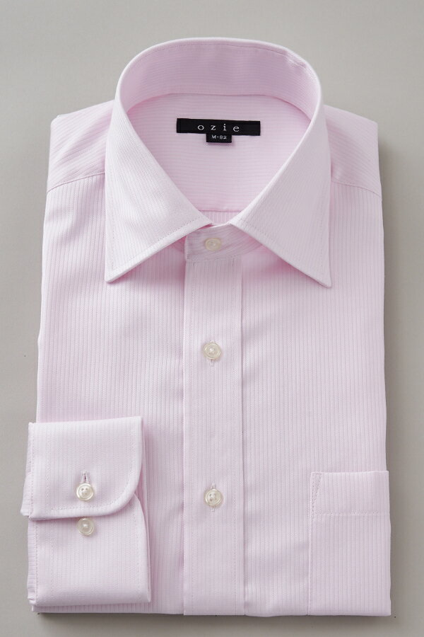 ドレスシャツ 長袖ワイシャツ タイトフィット スリム ワイドカラー メンズ おしゃれ オシャレ Yシャツ ピンク  シャツ ビジネス トールサイズ カッターシャツ 形態安定 プレミアムコットン 大きいサイズ 無地 ワイシャツ