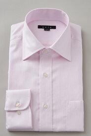 ドレスシャツ 長袖ワイシャツ タイトフィット スリム ワイドカラー メンズ おしゃれ オシャレ Yシャツ ピンク| ワイシャツ シャツ ビジネス トールサイズ 大きいサイズ カッターシャツ 無地 形態安定 プレミアムコットン 高級 長袖シャツ カラーシャツ 綿100% フォーマル