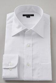 ドレスシャツ 長袖ワイシャツ タイトフィット スリム ワイドカラー メンズ おしゃれ オシャレ Yシャツ ホワイト 白| シャツ ビジネス トールサイズ 大きいサイズ カッターシャツ 無地 形態安定 プレミアムコットン ワイシャツ 高級 長袖シャツ 綿100% コットンシャツ