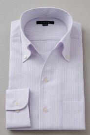 イタリアンカラー シャツ メンズ ドレスシャツ 高級   ワイシャツ おしゃれ ビジネス ボタンダウンシャツ 長袖 スキッパー トールサイズ Yシャツ 大きいサイズ パープル 紫 カッターシャツ ボタンダウン メンズドレスシャツ クールビズ 父の日 春 ビジネスシャツ