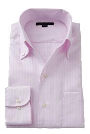 イタリアンカラー シャツ メンズ ドレスシャツ 高級   ワイシャツ おしゃれ ビジネス ボタンダウンシャツ 長袖 トールサイズ カッターシャツ スキッパー Yシャツ 大きいサイズ 襟 の 高い ビジネスシャツ クールビズ ボタンダウン ピンク 紳士 ビジネスワイシャツ