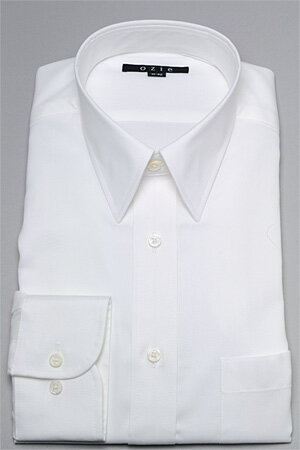 レギュラーカラー ドレスシャツ 長袖ワイシャツ タイトフィット スリム細身 プレミアムコットン 形態安定 白ワイシャツ カッターシャツ ノーアイロン ビジネスシャツ トールサイズ 長い 形状記憶 メンズ 男性用 おしゃれ Yシャツ 専門店 オフィス OZIE オックスフォード