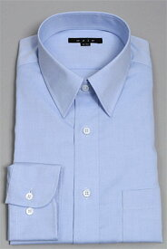 レギュラーカラー ドレスシャツ 長袖 | ワイシャツ ブルー 青 シャツ メンズ ビジネス 綿100% トールサイズ ノーアイロン おしゃれ スリム Yシャツ 形態安定 カッターシャツ 長袖シャツ ビジネスシャツ 形状記憶 トール 細身 オフィス カラーシャツ サックス タイト