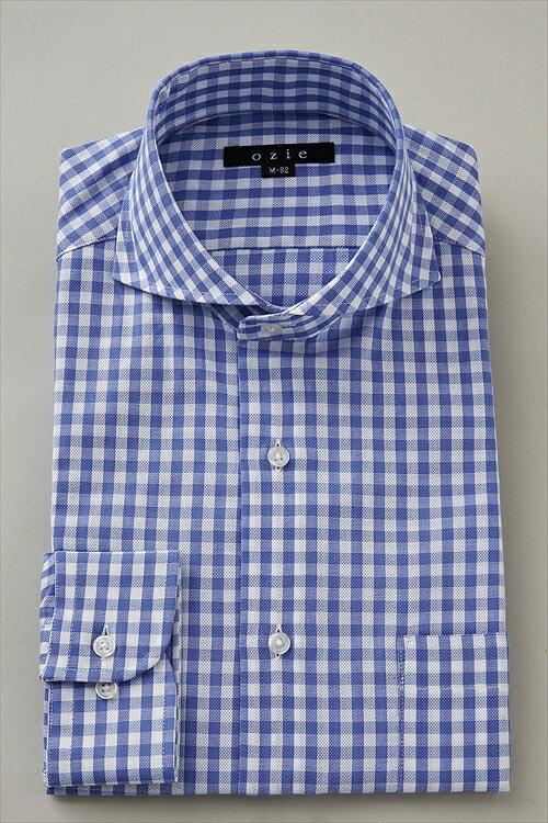 ドレスシャツ 長袖 高級 ワイシャツ|ホリゾンタルカラー シャツ メンズ ブルー 青 クールビズ 長袖シャツ ビジネス ノーネクタイ おしゃれ スリム トールサイズ ビジネスシャツ ホリゾンタル カッターシャツ Yシャツ 夏 涼しい タイト ホリゾンタルカラーシャツ 送料無料