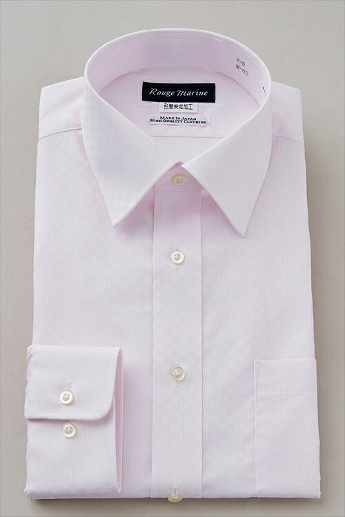 形態安定 形状記憶 ドレスシャツ| シャツ メンズ ビジネス ピンク ノーアイロン おしゃれ 日本製 Yシャツ オフィス 無地 ワイドカラー 長袖ワイシャツ オシャレ ワイドスプレッドカラー カッターシャツ ビジネスシャツ メンズシャツ 長袖 長袖シャツ
