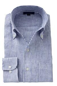 父の日 麻100% イタリアンカラー スキッパー   ワイシャツ メンズ シャツ 高級 ビジネス おしゃれ ドレスシャツ リネン ボタンダウンシャツ 長袖 リネンシャツ カッターシャツ ビジネスシャツ