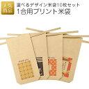 【手作りキット】1合用プリントクラフト米袋 10枚セット|ミニチュア米袋 クラフト紙 プチギフト ラッピング 手作り …