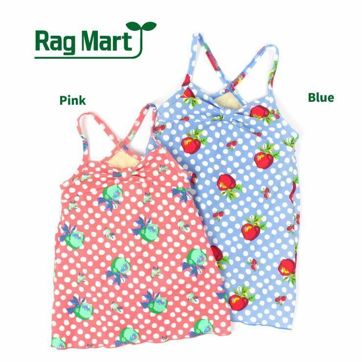 【セール/SALE】RAG MART(ラグマート)水着(ワンピース/ドット&アップル)【80cm/90cm/95cm】【1765507b】【女の子】
