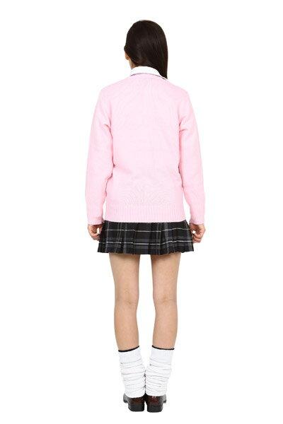 TeensEverカーディガン(シュガーピンク)L[女子高生カーディガンベストコスプレ制服]【A-1446_864226】
