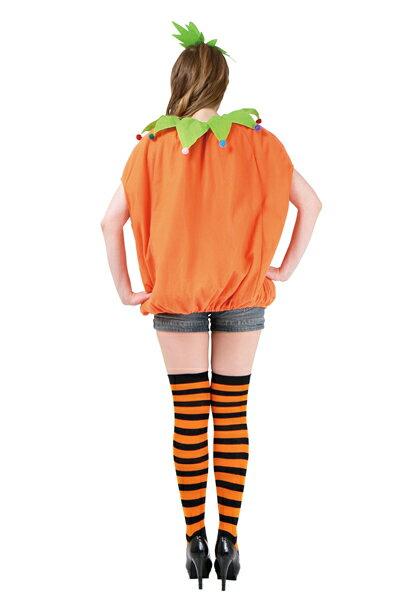 スマイルパンプキン(大人男女兼用カボチャの衣装)[ハロウィン衣装、ハロウィーン、コスチューム、仮装、大人]【468165】
