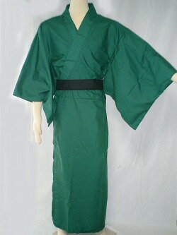 カラー着物緑