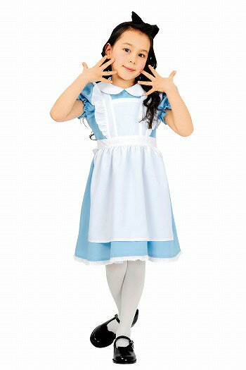 AQUAドレスアクアドレス(子供用:120cm)【アリスの衣装】[ハロウィン衣装、ハロウィーン、コスチューム、仮装、子供、女の子]【A-0964_460367】【02P11Apr15】