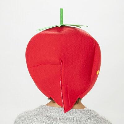 いちごキャップ[イチゴかぶりもの仮装マラソン帽子ストロベリーコスプレイベントハロウィンおもしろグッズ余興宴会パーティーグッズ]【C-0667_221799】