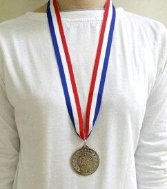 【6点までメール便も可能】 [シルバー] NEW銀メダル (1個入) [準優勝メダル 第2位 メダル シルバーメダル 大会 運動会 体育祭 表彰式 イベント 忘年会 新年会 パーティーグッズ]【K-3508_104027】
