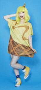 POP ICE ハニーバナナ(ウィッグ付き)  [アイス コスプレ アイスクリーム 衣装 ハロウィン コスチューム 食べコス イベント レディース 大人女性 仮装]【894023】_HB