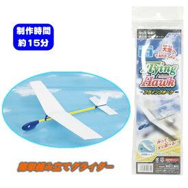 【2点までメール便も可能】 フライングホーク [ゴム飛行機 グライダー 紙飛行機 子供 飛行機 おもちゃ 玩具]【B-3163_056344】