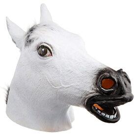 [イベント コスプレ] アニマルマスク3 白馬(ラバーマスク) [午(うま) 動物 ウマ うま コスプレ 仮装グッズ イベント 宴会 仮装 仮装マスク かぶりもの 変装 パーティーグッズ バンビーノ ダンソン]【C-0020_515242】