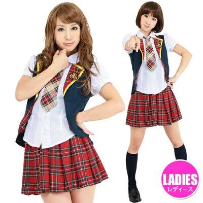 アイドル制服ユニットBLadies【キーワード:AKB48・AKIBA・アキバ・女子高生コスチューム・コスプレ・仮装グッズ・衣装】【837695】