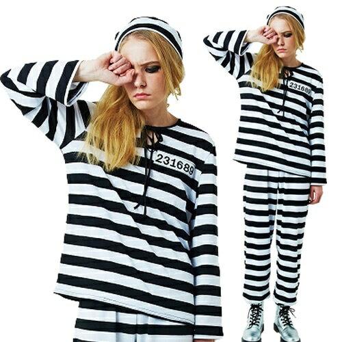 [ハロウィン コスプレ] フォンデットスーツ Ladies [囚人服 プリズナー 衣装 ハロウィン 女性 コスプレ 仮装]【_851806】