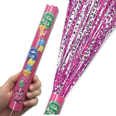 ピンクステージシャワークラッカー(1本入)【ピンク】【パーティークラッカー・スパークリングシャワーやファイヤーギターの替え弾として使用可能】
