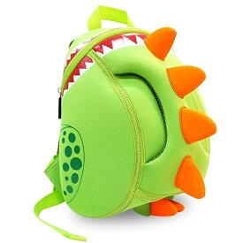 NOHOO ノーフー 子供用 リュック Mサイズ ガブガブ 恐竜 ライトグリーン ウェットスーツ 素材 キッズ かわいい 可愛い プレゼント ギフト