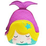 NOHOOノーフー子供用リュックSMサイズ人魚姫紫ウェットスーツ素材キッズかわいい可愛いプレゼントギフト【あす楽対応】