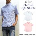 Sweep(スウィープ) オックスフォードボタンダウン半袖シャツ定番のメンズシャツS,M,L,LL