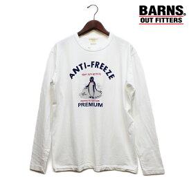 セール!BARNS/バーンズ ヴィンテージ風ペンギンプリントロンT(メンズ長袖Tシャツ)
