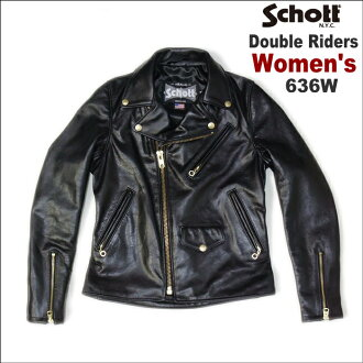 SCHOTT WOMEN's DOUBLE RIDERS 636 W (shot ladiesdoublerai dozen 636 W)