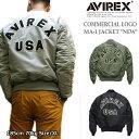 """AVIREX(アヴィレックス) ロゴ入りMA-1ジャケット メンズフライトジャケット MA-1 COMMERCIAL LOGO """"NEW""""No.6102171"""