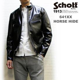 Schott/ショット シングルライダースホースハイド641XXH '60復刻版 No.7417 (SINGLERIDERS 641XXH)