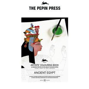 【 大人の塗り絵 】 The PEPIN Press ペピン プレス カラーリングブック ( M ) 16pcs / エジプト ( ANCIENT EGYPT ) CB-M-013 【 正規販売店 】.