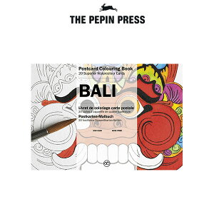 【 メール便 可 】【 大人の塗り絵 】 The PEPIN Press ペピン プレス ポストカード カラーリングブック 20pcs / バリ ( BALI ) CB-PC-005 【 正規販売店 】.