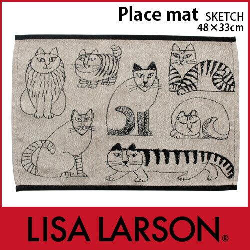 LISA LARSON リサ ラーソン ランチョンマット Place mat / スケッチ ランチョン 布製 ・ ゴブラン織り .