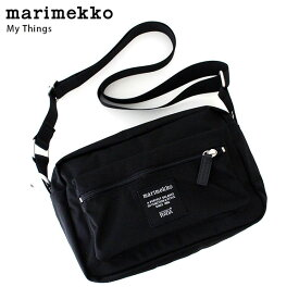 marimekko ( マリメッコ ) Roadie シリーズ 『 MY THINGS 』 ショルダーバッグ / ブラック 【 正規販売店 】【あす楽】