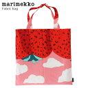 【 メール便 可 】 marimekko ( マリメッコ ) Mansikkavuoret ( マンシッカヴォレット ) ファブリックバッグ / ピンク…