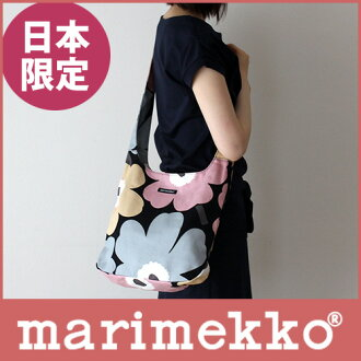 Marimekko (Marimekko) Clover UNIKKO unikko shoulder bag / pink, beige and gray.