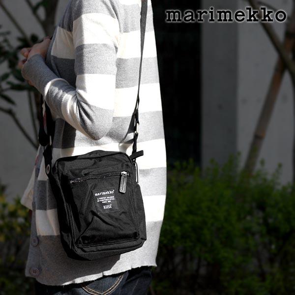 marimekko ( マリメッコ )『 Cash & Carry ( キャッシュ & キャリー )』 ショルダーバッグ / ブラック .