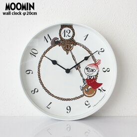 MOOMIN ( ムーミン ) ウォール クロック 壁掛け 時計 「 リトルミイ スイング 」 φ200mm Moomin Timepieces ( ムーミンタイムピーシーズ ) 【 正規販売店 】.