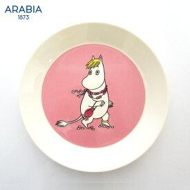 ARABIA ( アラビア ) MOOMIN ( ムーミン ) プレート 19cm / フローレン ( ピンク ) 【 正規販売店 】.