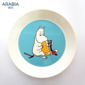 ARABIA ( アラビア ) MOOMIN ( ムーミン ) プレート 19cm / ムーミントロール ( ターコイズ ) 【 正規販売店 】.