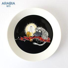 ARABIA ( アラビア ) MOOMIN ( ムーミン ) プレート 19cm / ご先祖さま ( ブラック ) 【 正規販売店 】.